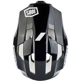 100% Trajecta Casco, black/white